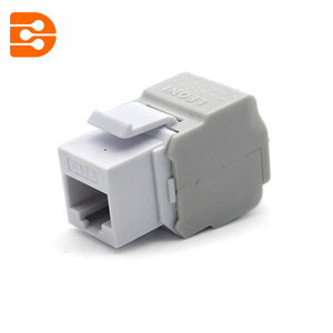 Toolless CAT 6A Keystone Jack 180 Degree