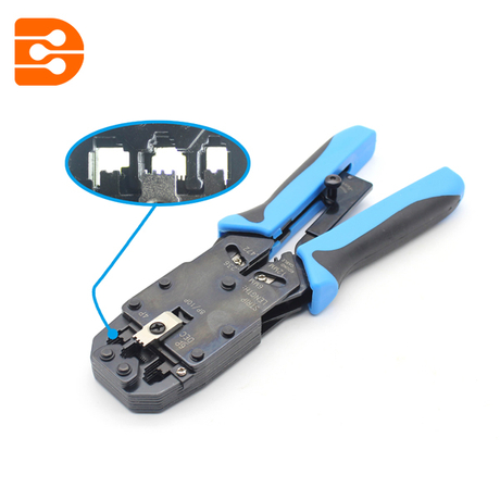 Module Plug Crimping Tool With Stripper And Cutter