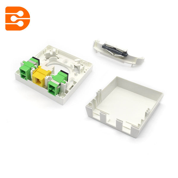 Fiber Optic Mounting Box 8686 FTTH Wall Outlet