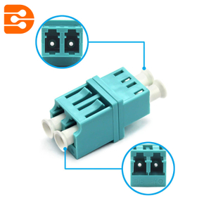 LC/PC OM3 Multimode Duplex High-low Type Adapter
