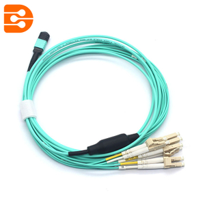 MPO to 8 Cores Duplex LC/PC OM3 MM Fiber Optic Patch Cord