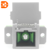 SC/PC to SC/APC Simplex Adapter with Flip Auto Shutter and Flange