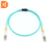 Duplex LC/PC to LC/PC OM3 MM Fiber Optic Patch Cord
