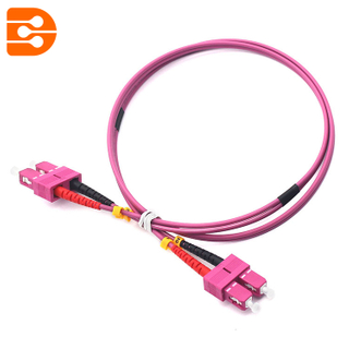 Duplex SC/PC to SC/PC OM4 MM Fiber Optic Patch Cord