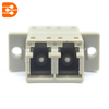 LC/PC Multimode Duplex Adapter with Flange