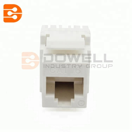High Density CAT6A Keystone Jack 180-Degree