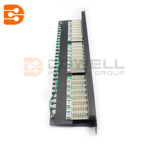 24 Port Cat6 FTP Shielded CCS 20/20 Right Angled Patch Panel