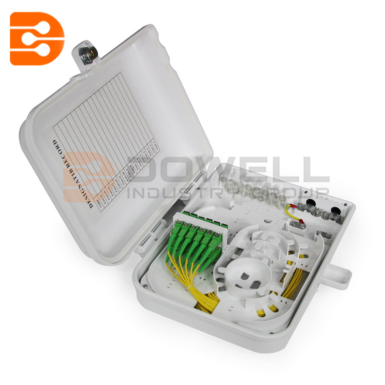 DW-1211 12 Port FTTH Fiber Optic Termination Box, 1X12 Core Outdoor Fiber Optical Splitter ,Drop Cable Distribution Box