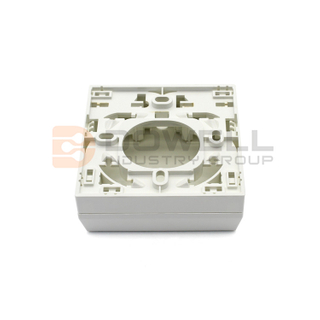 DW-1043 Fiber Optical recessed socket for hybrid plaster, 4x SC simplex slot, 1x keystone position