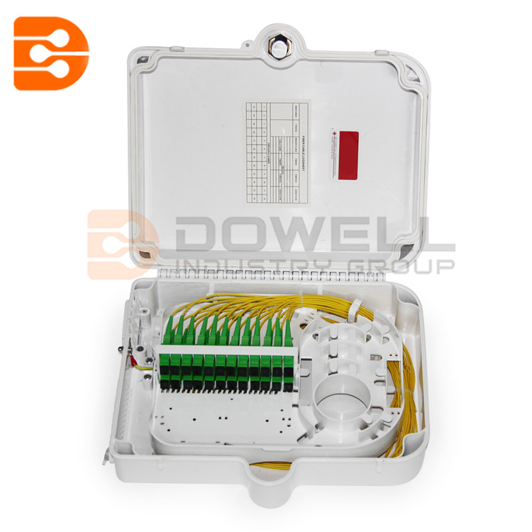 DW-1216 Outdoor Wall Mount 24 Cores Fiber Optic Distribution Box