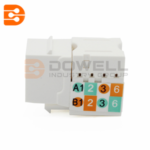 Cat5e RJ-45 FTP 90-Degree Shielded 110 IDC Keystone Jack