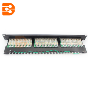 24 Port Cat5e FTP Shielded CCS 20/20 Right Angled Patch Panel