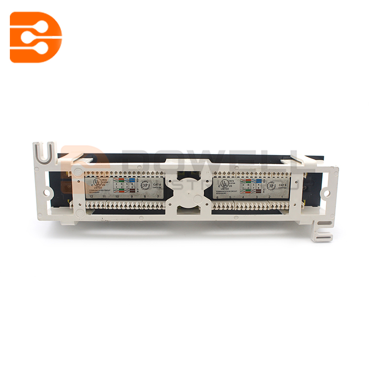 12 Port 10 inch 110 Network Cat6 RJ45 Wall Surface Mount Patch Panel Bracket