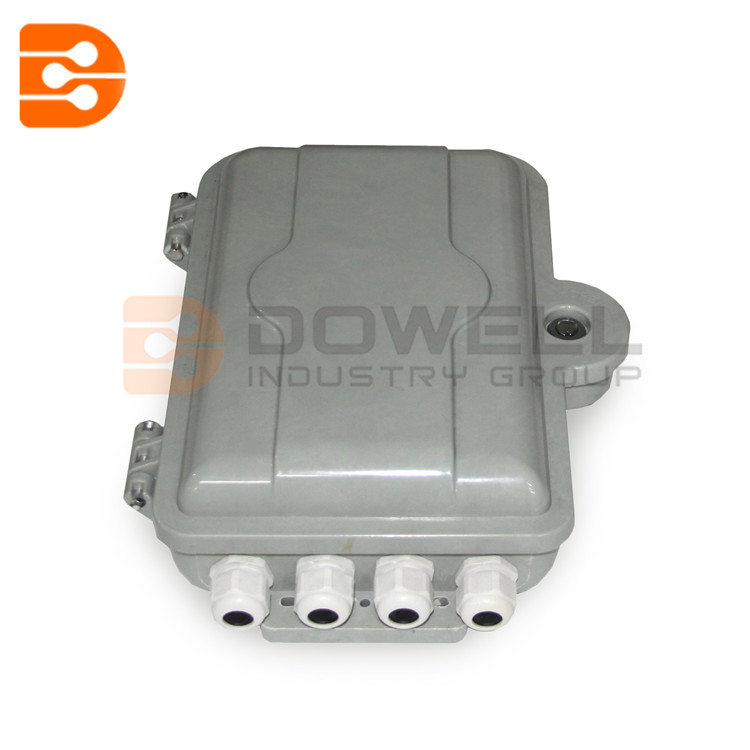 DW-1207 FTTH 1*8 PLC Splitter Box, 8 Cores Outdoor Plastic Fiber Optical Splitter Box, SMC material