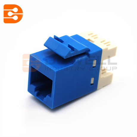 Cat.6 Modular Jack RJ45 SL Series,Blue color
