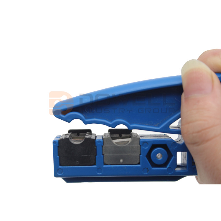 DW-8049 Cable Stripper Function for RG59/62/6/11/7/213/8 UTP