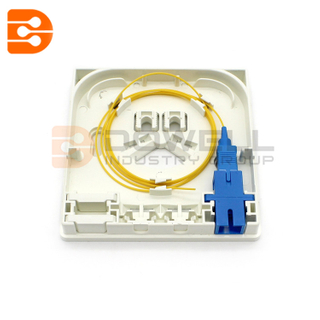 DW-1082 FTTH Fiber Optic Wall Outlet 2 Ports