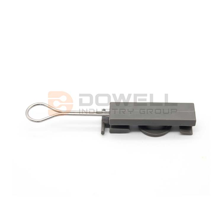 DW-1049 FTTH stainless steel optic electrical wire clamp\drop wire clamp