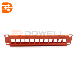 Installer Parts 1U 12 Port Blank Panel for Keystone Jack
