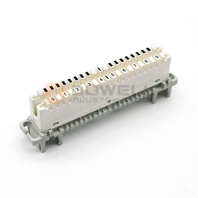 DW-6089 1 121-02 Excellent SGS Approved PBT Or ABS Krone Lsa 10 Pairs Disconnection Module