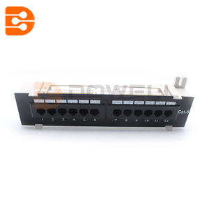 12 Port UTP 10 inch Cat6 Network Wall Mount Surface Patch Panel
