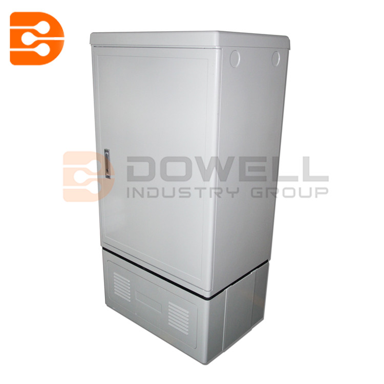 Fiber Optic Cross Connection Cabinet Stainless Steel 288 Cores