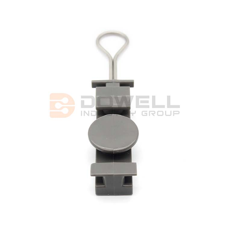 DW-1049 Wholesale Exquisite FTTH Cabling Accessory Cable Fiber Optic Wire Clamp Adjustable Plastic Electrical Telecom Drop Wire