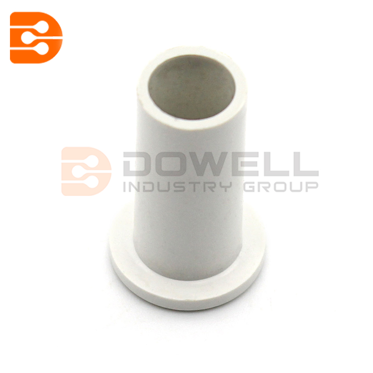 DW-1052 White Single Coaxial Cable Wall Grommet