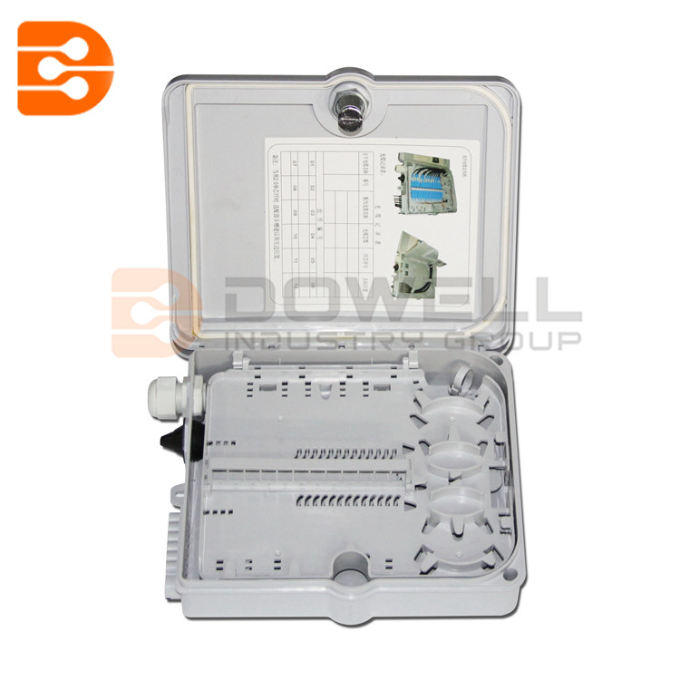 DW-1209 12 Port FTTH Fiber Optic Termination Box 1X12 Core Outdoor Fiber Optical Splitter Or Drop Cable Distribution Box