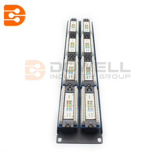 2U QUALITY AT 48 Port/Way CAT5e Ethernet Patch Panel